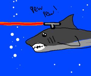 sharks evolve frickin lasers on their heads drawception