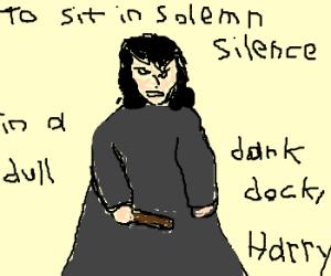 Severus Snape playing mikado