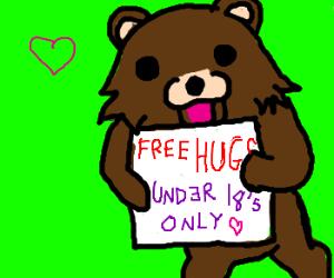 Pedobear is giving away free hugs
