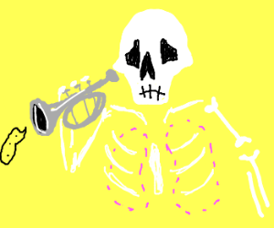 Skull Trumpet has no lungs