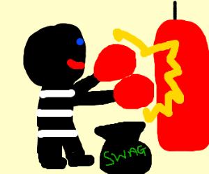 Boxing burglar