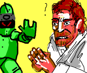 Chuck Norris baffles a robot.