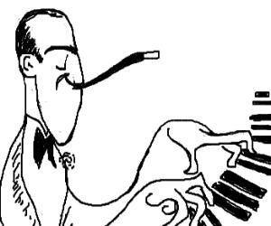 Cartoony George Gershwin