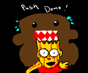 domo gives birth to Bart Simpson