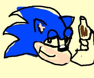 Sonic gets drunk...
