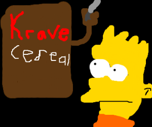 box of Krave cereal tries 2 murder bartsimpson