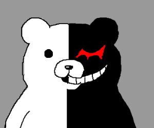 White bear shows his black evil side.