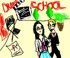 Sims go to prestigious drama school