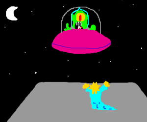 Maggie Simpson welcomes our new alien overlord