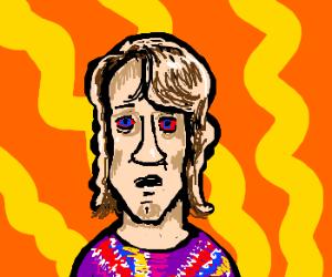 Sean Penn in retro 70's shirt