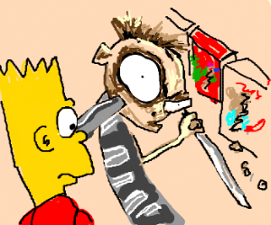 Bart Simpson meets the Cereal Killer.