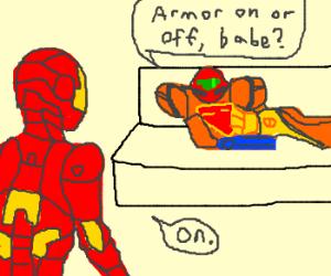 Iron Man in love with Samus Aran