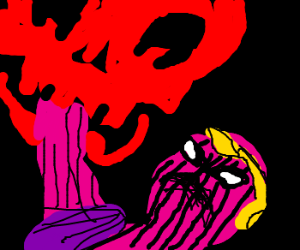 Giant Red Skull and Dr. Zemo