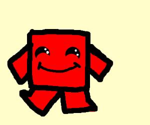 Low-detail Meat Boy