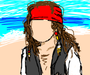 Jack Sparrow sans primary facial features