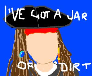 Captain Jack Sparrow had his face stolen