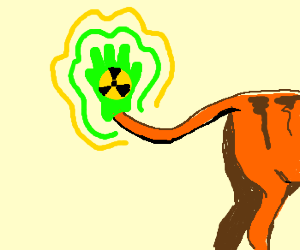 tails got new radioactive gloves