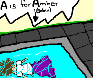 A is for Amber who drowned in a pool