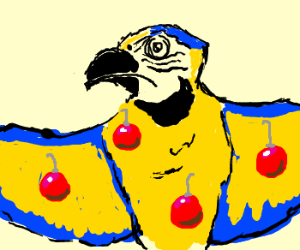 Somone Decorated a Parrot With Christmas Balls