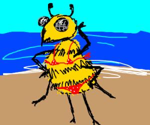 A bumblee's bumblebeach bumblebikini