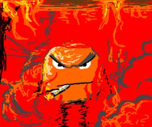 Pyromaniac orange