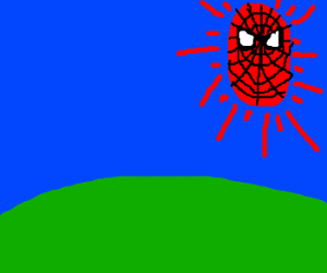 Spider-man gets reincarnated as the sun.