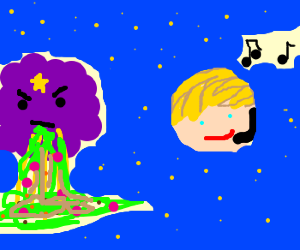 lumpy cloud princess is not amused by bieber