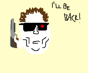 "Ovoid Schwarzenegger will ""be back"""