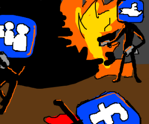 The war of Facebook, Twitter and Myspace