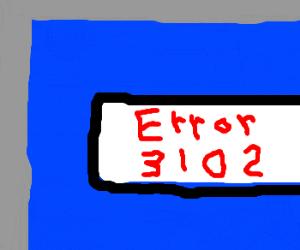 Error 3102