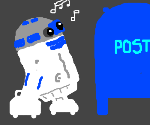 R2D2 is smitten with the postbox