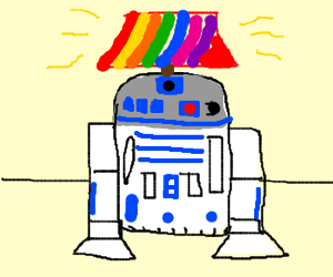 Please respect R2D2's life choices.