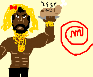 """Mr. T presents """"Cooking while in a blonde wig"""""""