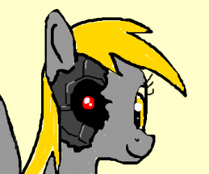 Derpy hooves is actually terminator