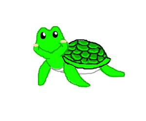 Happy turtle is happy
