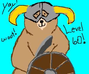Bear hits level 60 in Skyrim