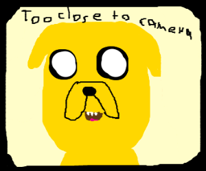 Jake the Dog is too close to the camera