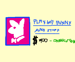 Playboy bunny does an ad for Google