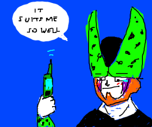 Perfect Cell just got HIS PERFECT CELL PHONE