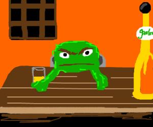 Oscar the grouch seeks bar buddy