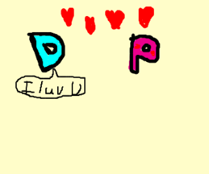 D loves P