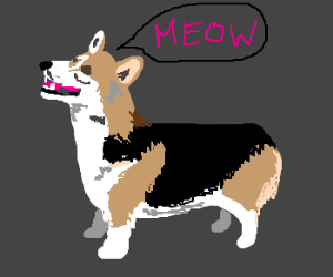 Register Service Dog >> Meow said the dog. - Drawception