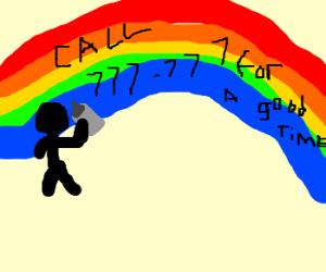 Vandalizing rainbows.