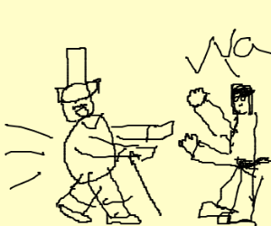 Chubby Charlie Chaplin Charges Chuck Norris