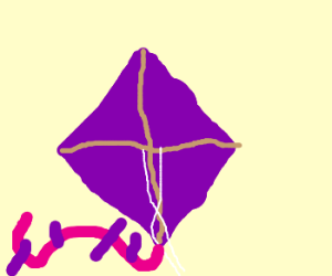 Purple kite