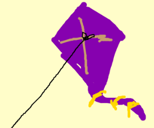 A purple kite.