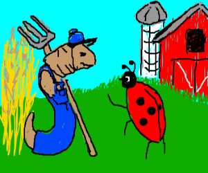 farmer worm chats with his bug(?) friend
