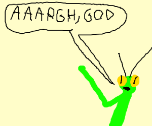 Praying Mantises last words.