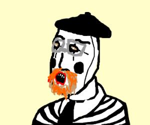 Jamie Hyneman becomes a mime