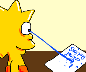 Lisa Simpson shoots blue ink from her eyes
